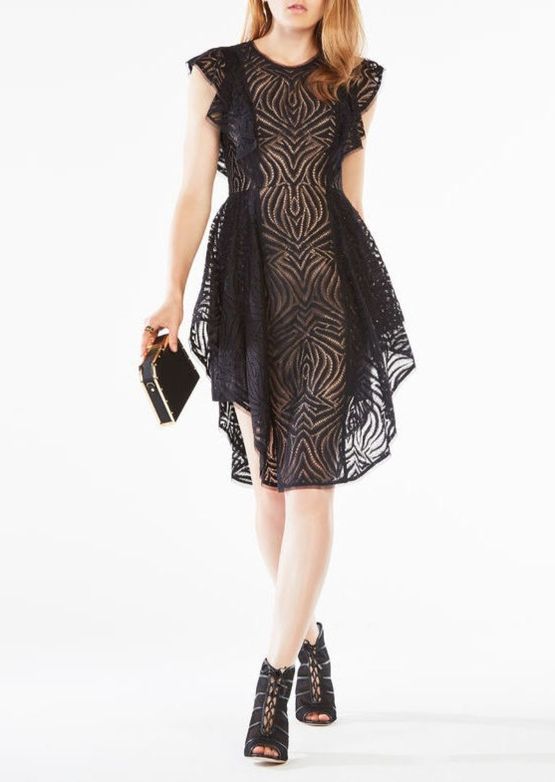 BCBG Christiania Ruffle Lace Dress