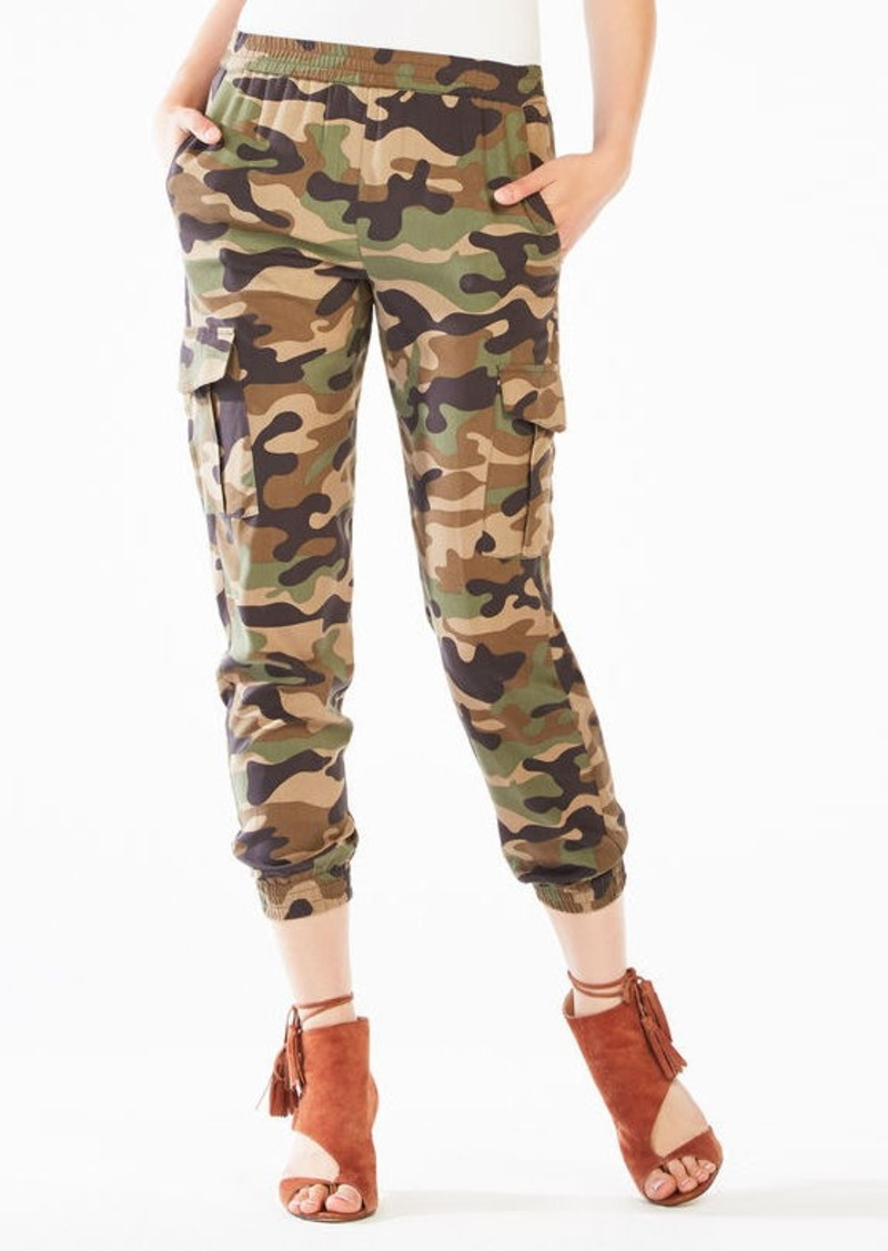 BCBG Cian Camouflage Cargo Jogger Pant