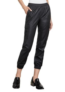 Cian Faux-Leather Cargo Pant