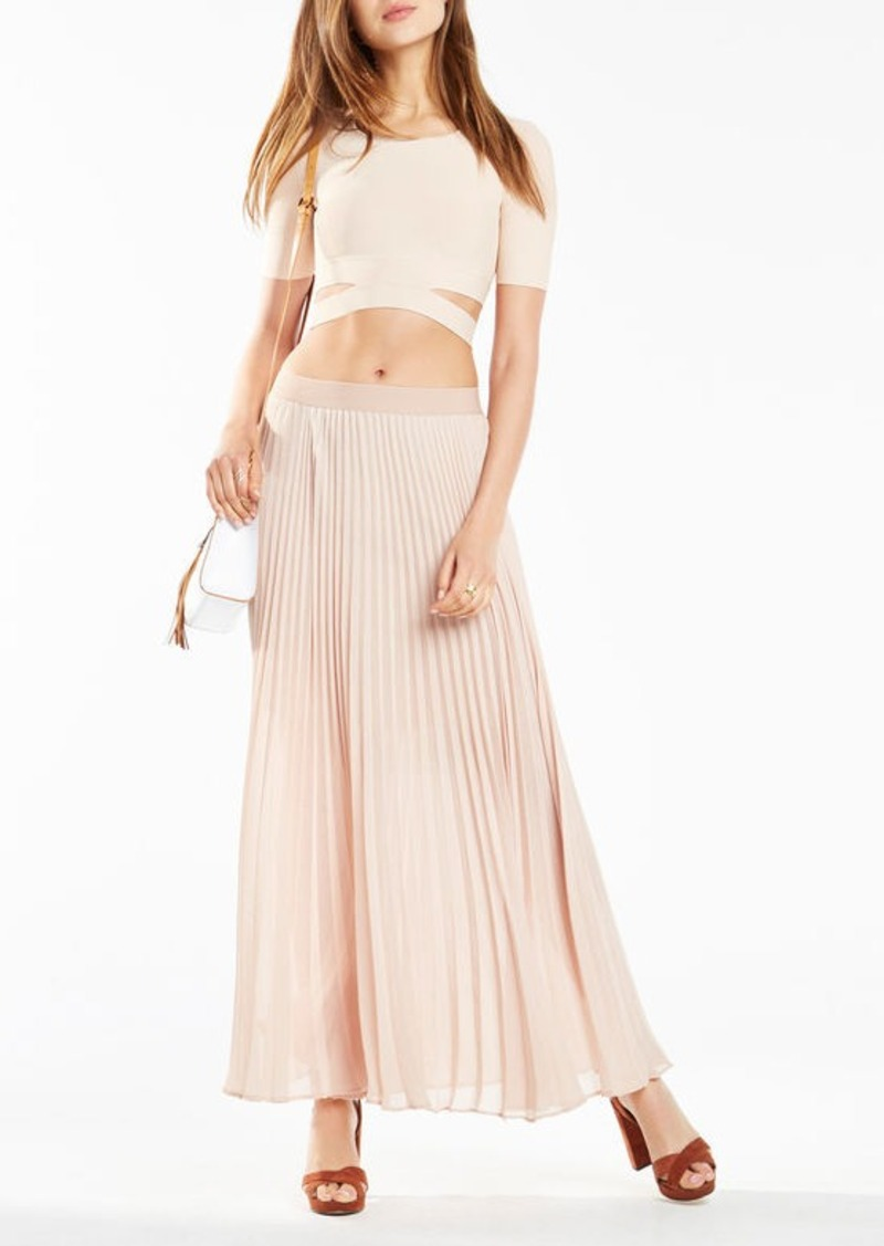 BCBG Clarissa Cutout Crop Top