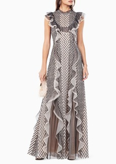 BCBG Cloe Embroidered Gown