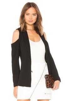 Cold Shoulder Blazer In Black