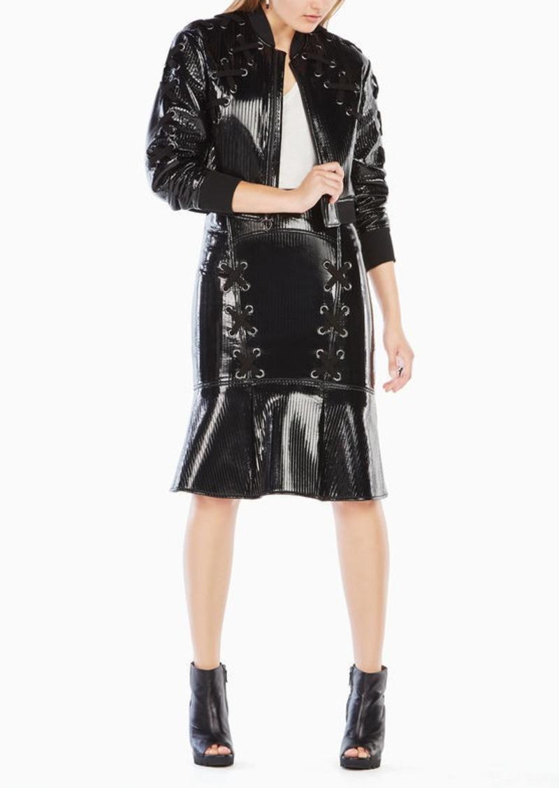 Bcbg Colin Faux Leather Bomber Jacket Outerwear Shop