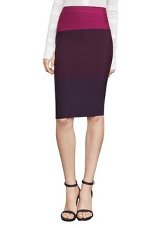 Color-Blocked Pencil Skirt