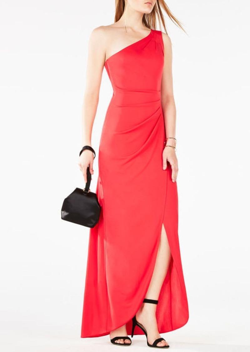 BCBG Courtney One-Shoulder Gown