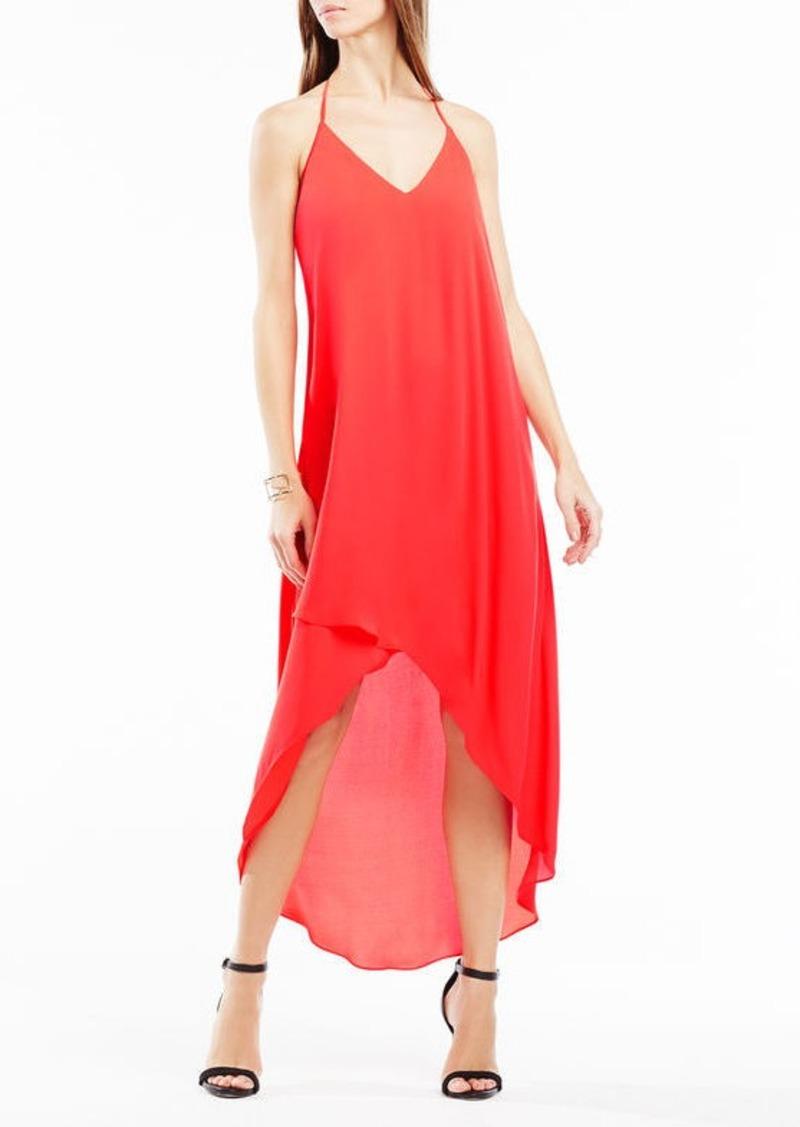 BCBG Cressida Lace-Trim High-Low Dress