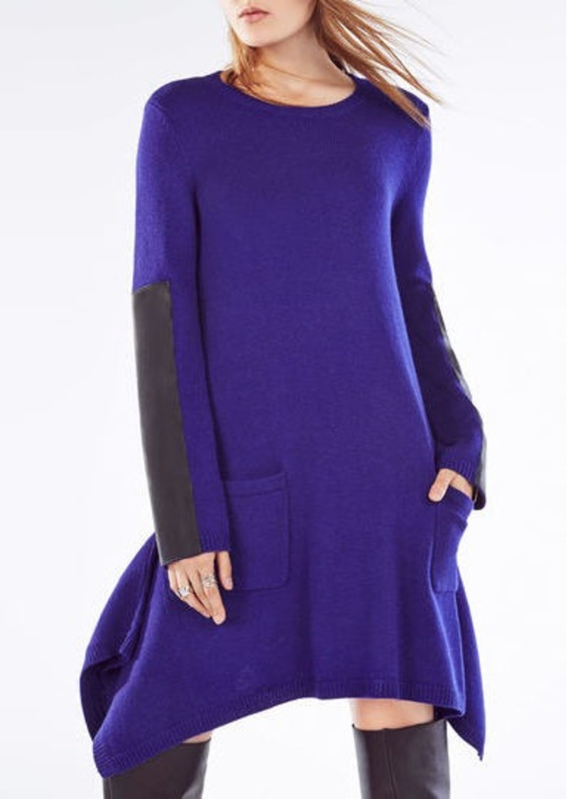 BCBG Dahnya Long-Sleeve Wool Blend Dress