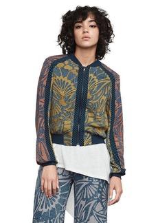 BCBG Darin Floral-Print Bomber Jacket