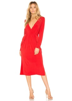 Deep V Neck Drapey Pocket Dress