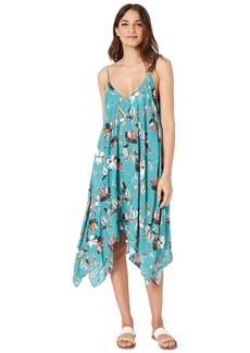 BCBG Desert Flower Flowy Midi Dress