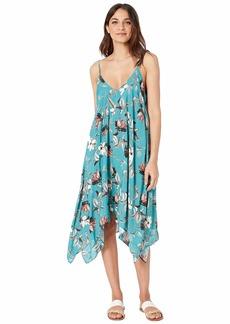 BCBG Desert Flower Flowy Midi Dress