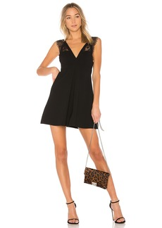 Dress With Lace Trim In Black
