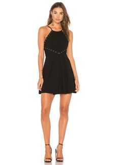 Dress With Trims In Black