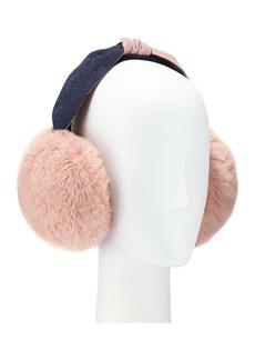 BCBG Faux Fur Tie-Top Earmuffs
