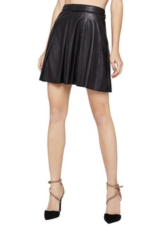 BCBG Faux-Leather Mini Skirt
