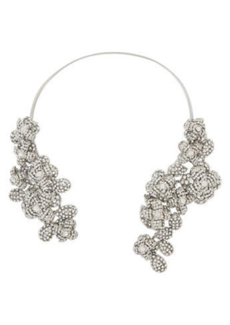 BCBG Floral Stone Cascade Necklace