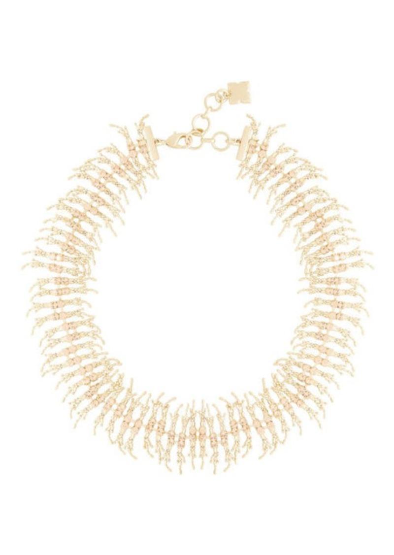 BCBG Fringe Stone Necklace