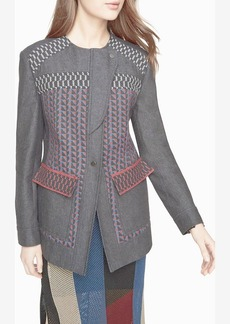 Garrett Asymmetrical Patchwork Coat