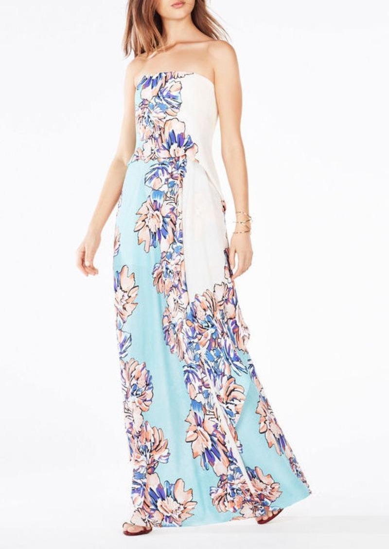BCBG Grace Floral-Print Maxi Dress