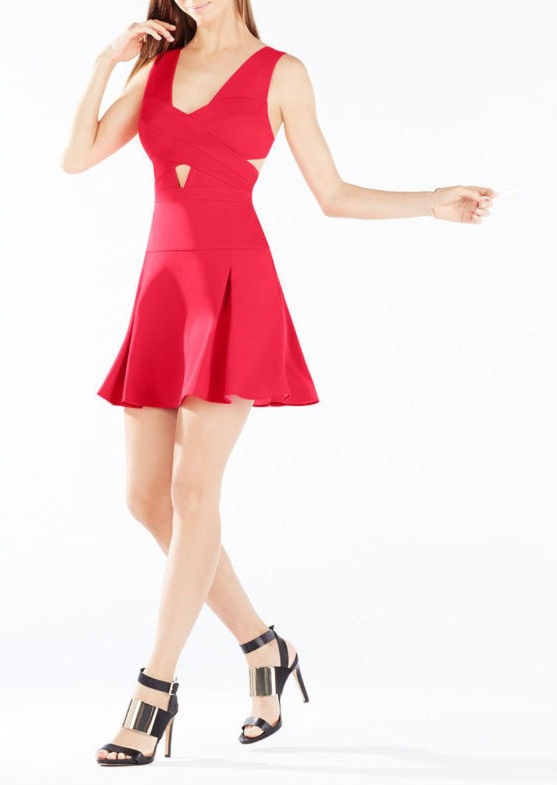 BCBG Harlie Cutout Fit-And-Flare Dress