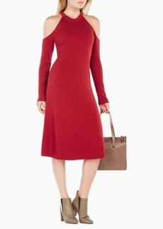 Ines Cold-Shoulder Sweater Dress