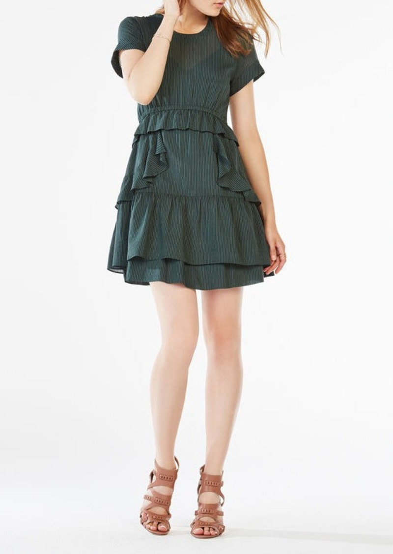 BCBG Inez Ruffled Chiffon Dress