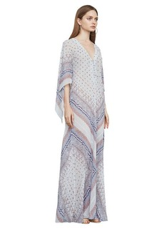 Izabel Tapestry-Print Gown