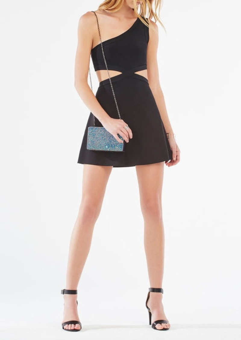 BCBG Jacquelln One-Shoulder Cutout Dress