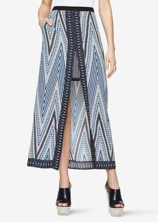Jane Chevron-Print Maxi Skirt