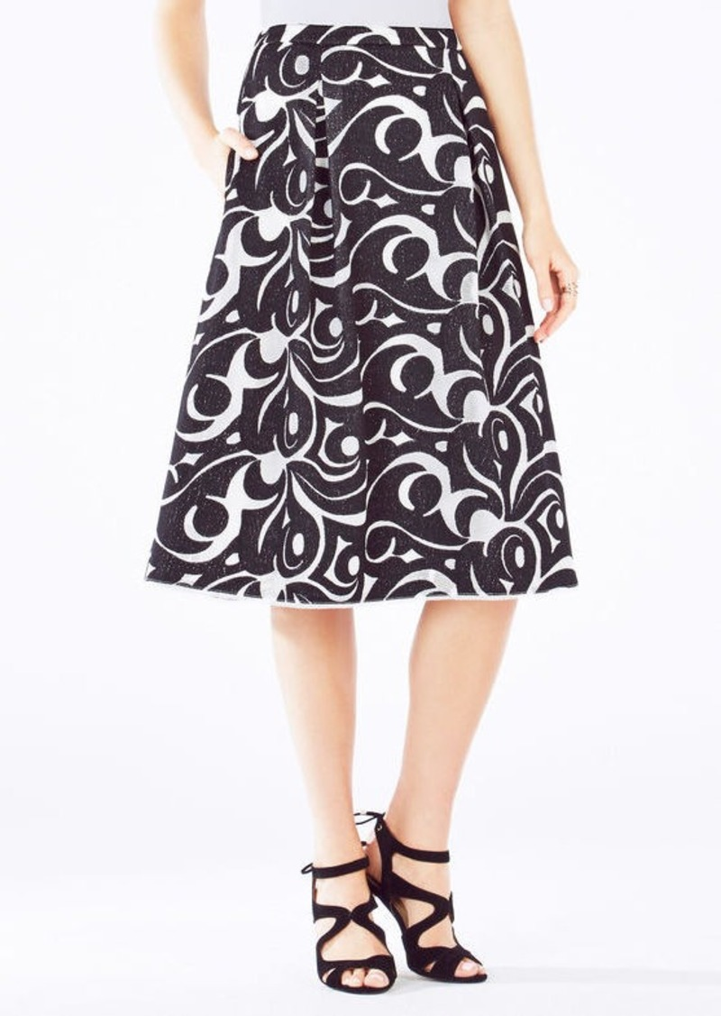 BCBG Jezebel Embroidered A-Line Skirt