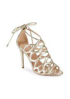 Joanna Metallic Caged Sandals