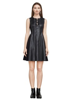 Jolee Sleeveless Faux-Leather Dress