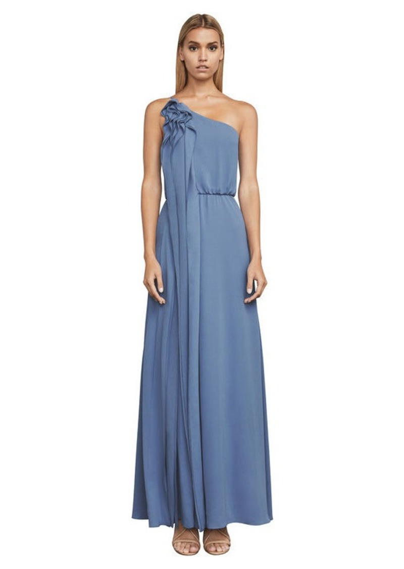 BCBG Joyce One-Shoulder Ruffle Gown Now $189.00
