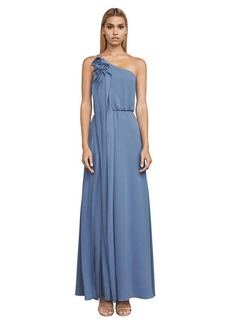 Joyce One-Shoulder Ruffle Gown