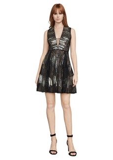 BCBG Julissa Sequin And Lace Dress