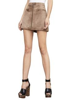 Kahli Faux-Suede Miniskirt