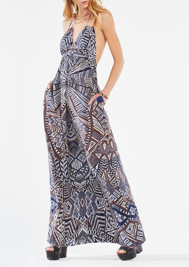 BCBG Kamala Medallion Print Maxi Dress