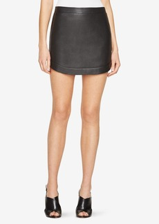 BCBG Kanya Faux-Leather Miniskirt