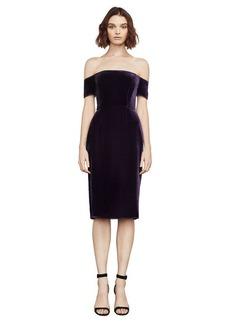 Karen Velvet Off-The-Shoulder Dress