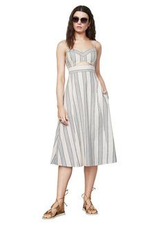 BCBG Karoline Striped Midi Dress