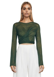 c1ad3913be4c9 Karsyn Waist-Tie Crop Top. BCBG