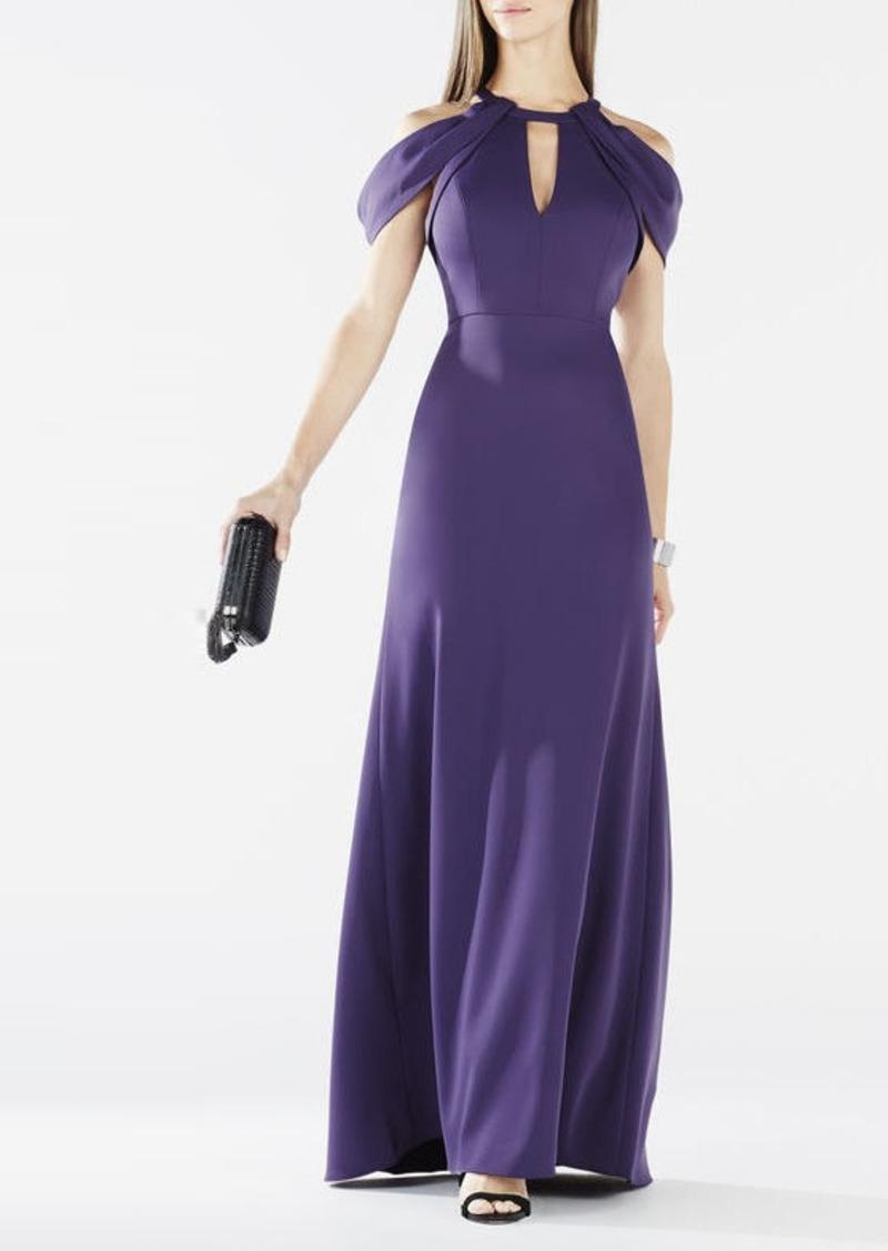 BCBG Kathya Draped Cutout Gown