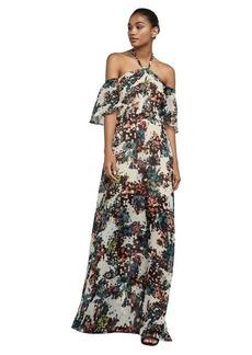 Kelley Off-The-Shoulder Halter Gown