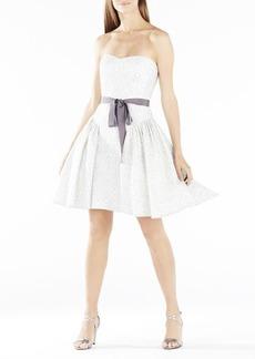 Kimmy Ruffled Metallic Lace Dress