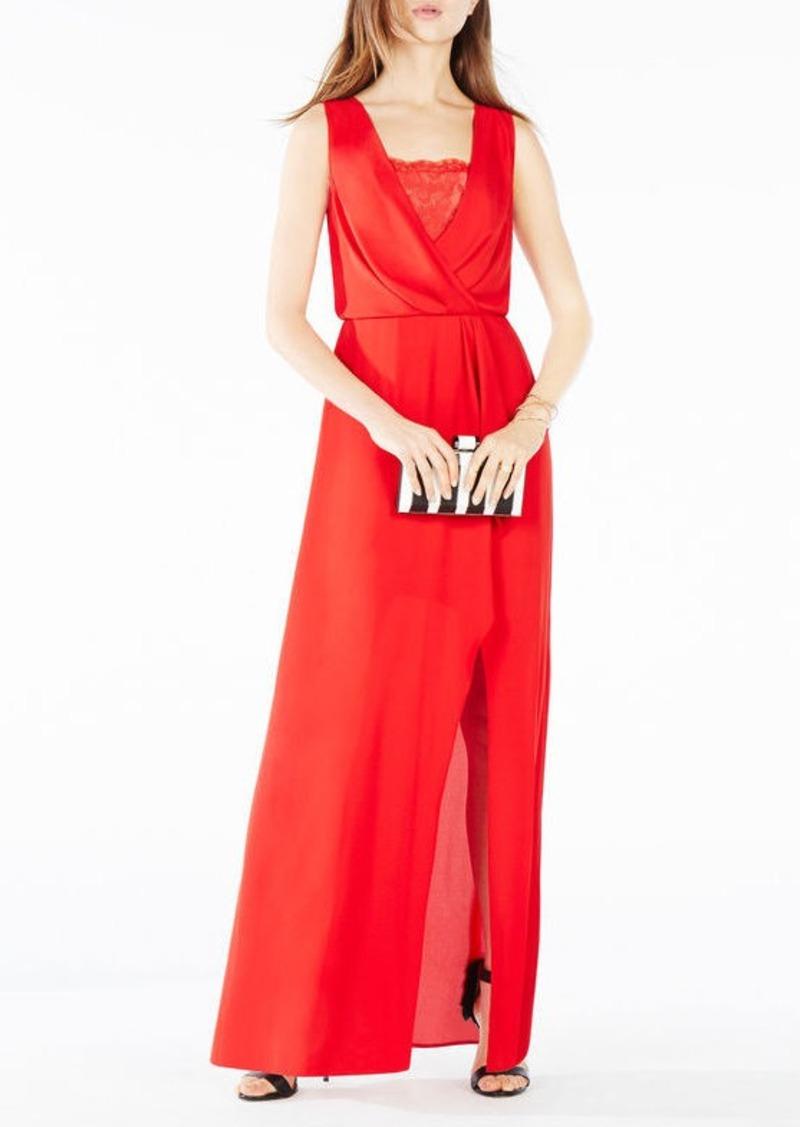 BCBG Koko Lace-Trim Blouson Gown