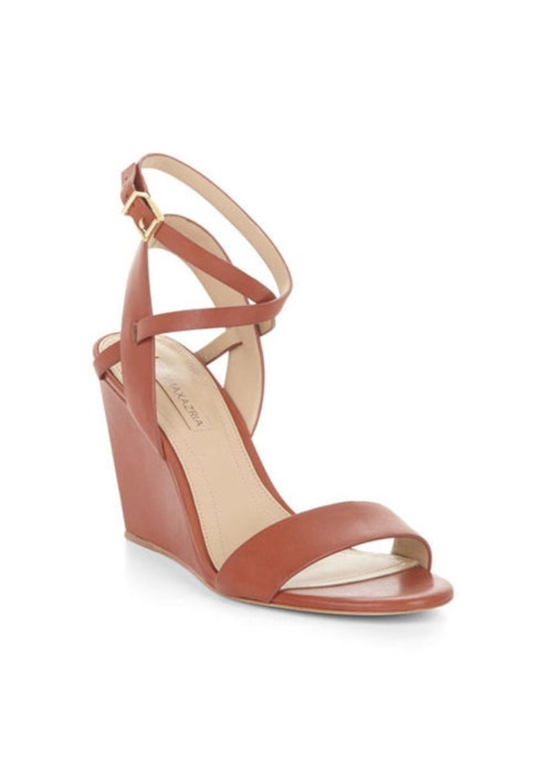 BCBG Lennox Leather Wedge Sandal