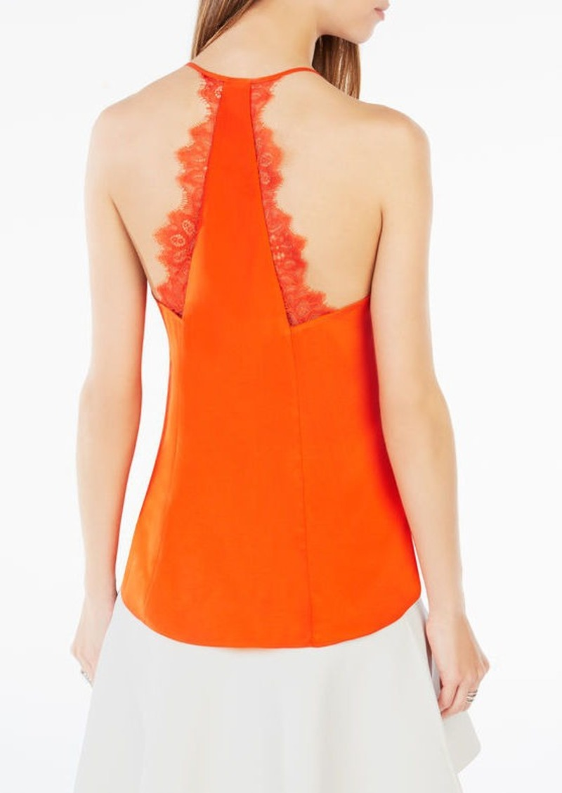 BCBG Lenor Lace-Trim Tank Top