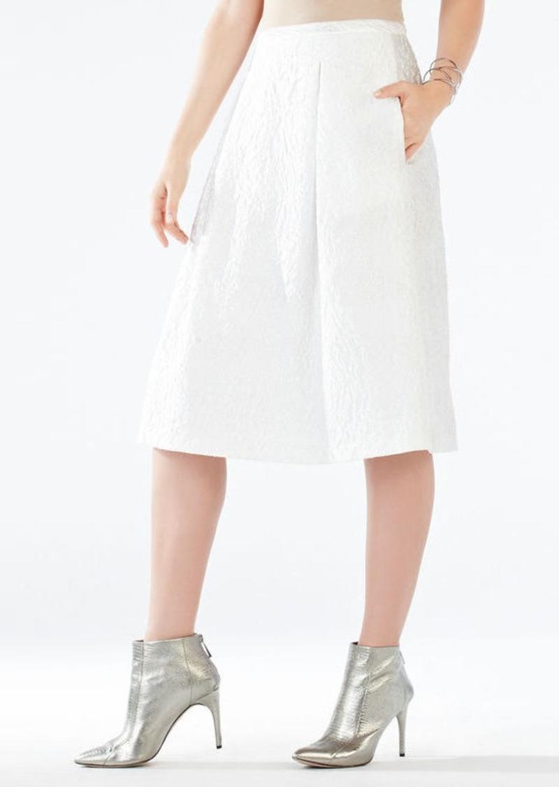 BCBG Lenora Floral Jacquard Skirt
