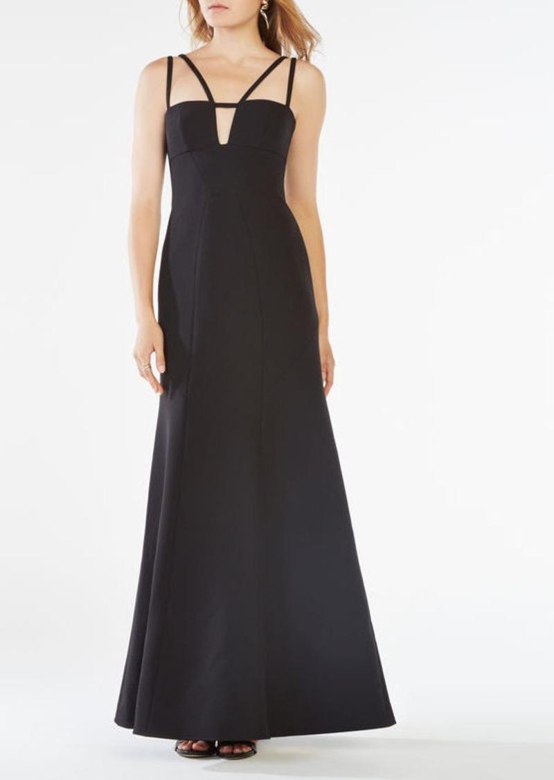 BCBG Leola Double-Strap Cutout Gown