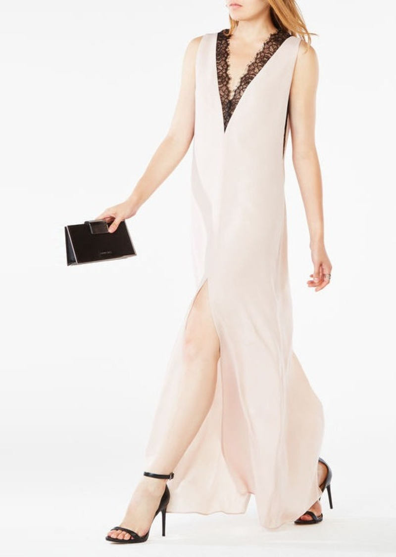 BCBG Llena Lace-Trim Dress